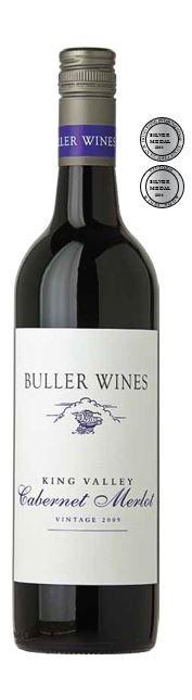 Buller Wines King Valley Cabernet Merlot 2009 (12 x 750mL) VIC