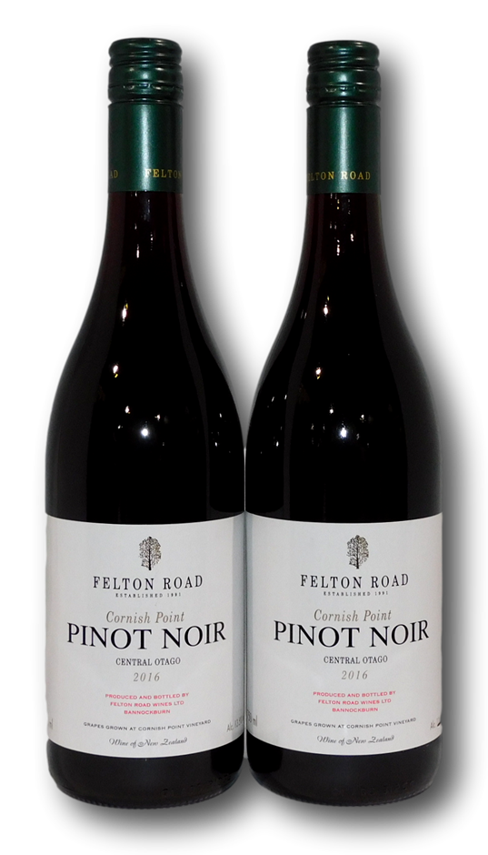 Felton Road Cornish Point Pinot Noir 2016 (2x 750mL), Central Otago
