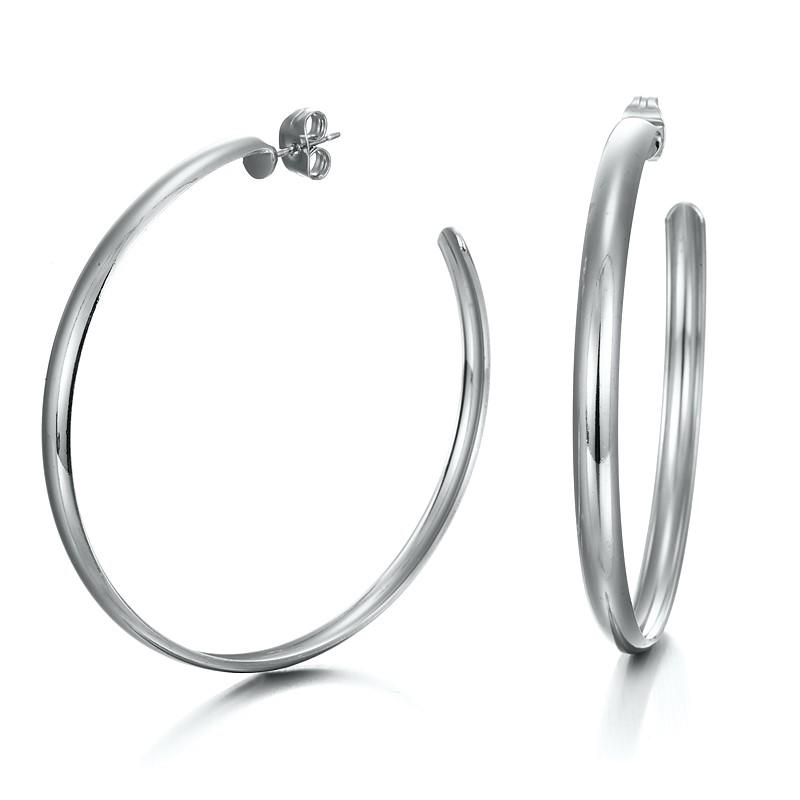 Extra Wide Hoop Earrings