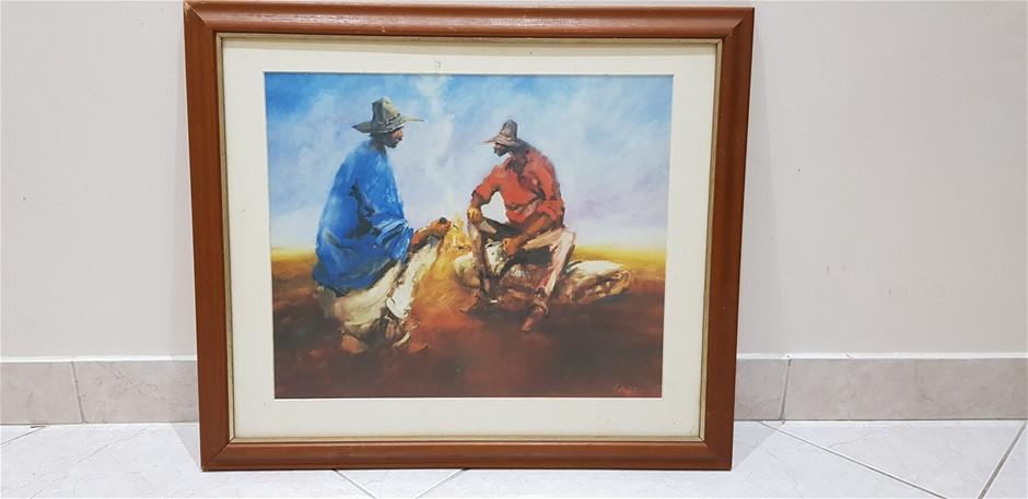 Two Aboriginals Sitting