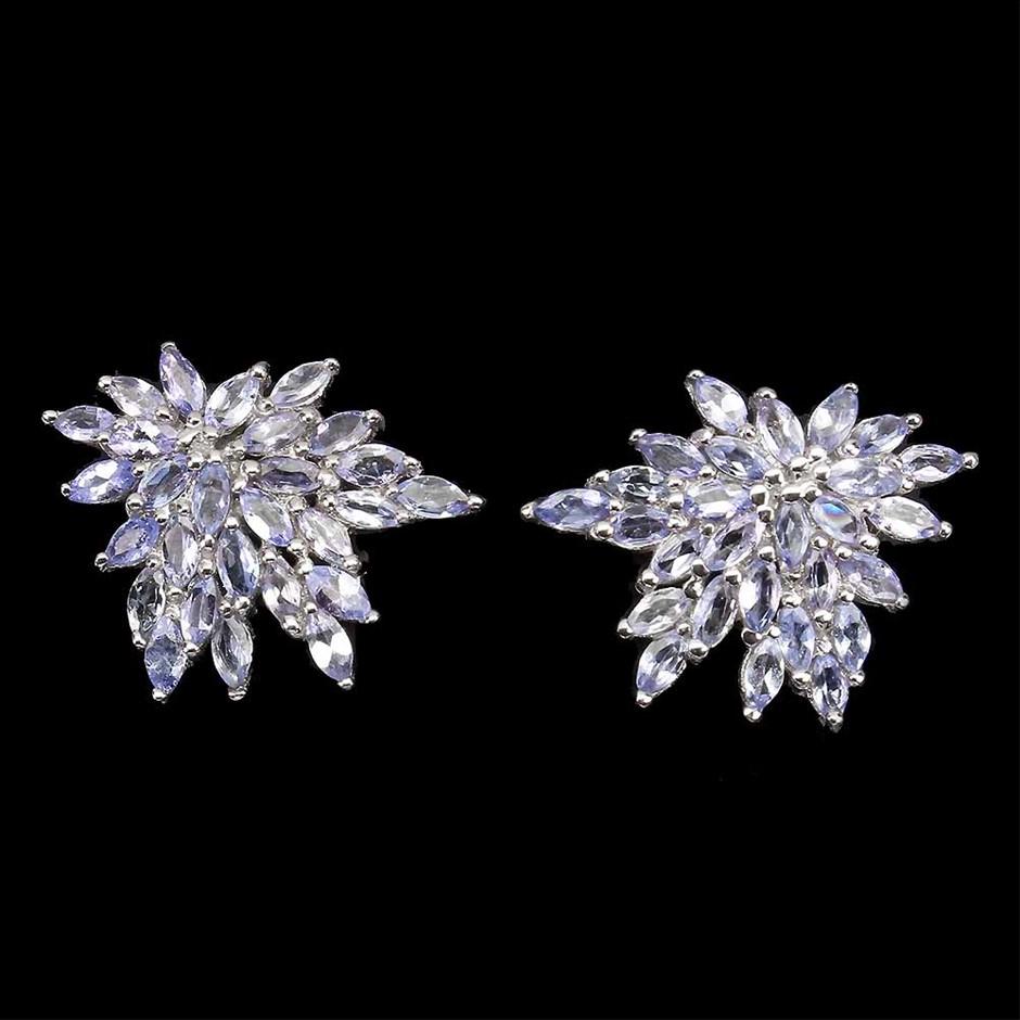 Beautiful Genuine Tanzanite Stud Earrings