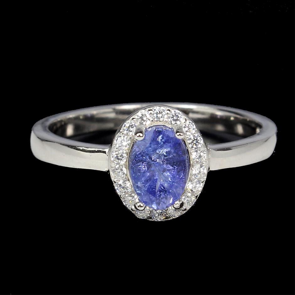Delightful Genuine Tanzanite Ring