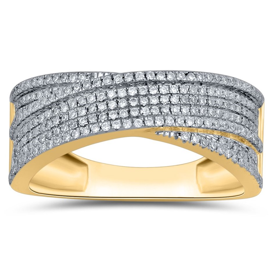 9ct Yellow Gold, 0.34ct Diamond Ring