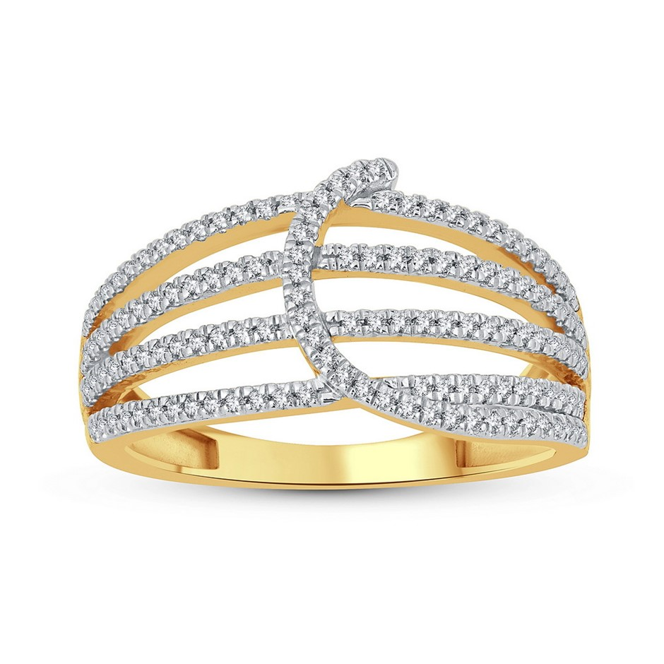 9ct Yellow Gold, 0.24ct Diamond Ring