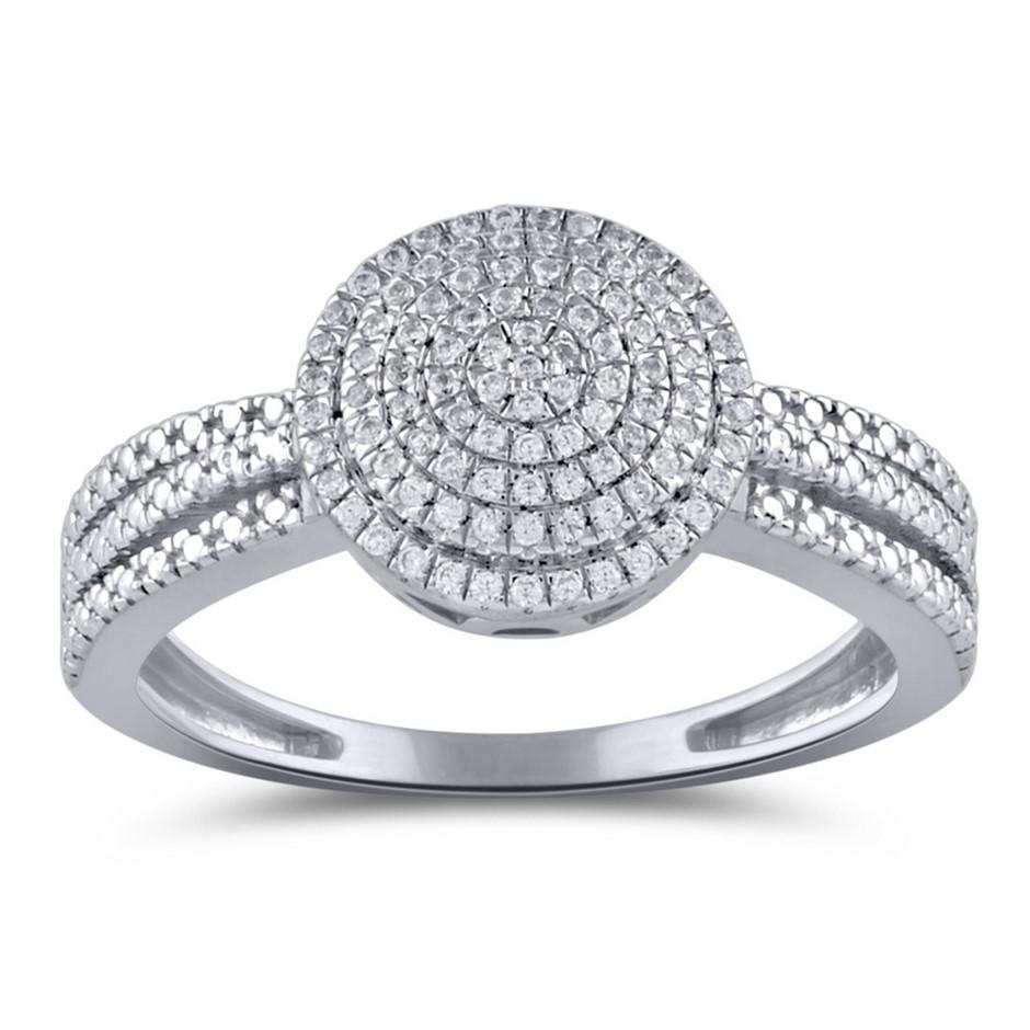 9ct White Gold, 0.13ct Diamond Ring