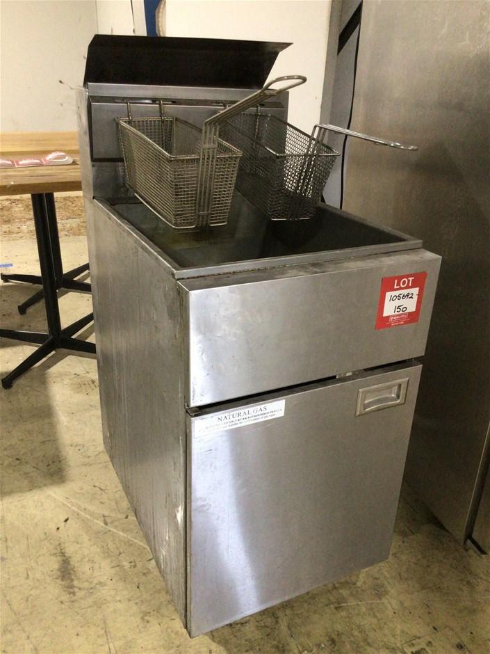 Vantage ZHRF2 Twin Basket Single Well Deep Fryer