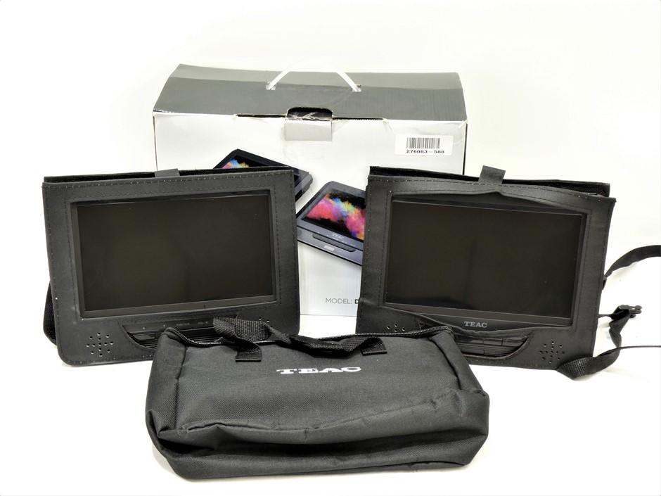 "Teac 9"" Portable Tv DVD Player Dual Screen ,Black( DVP902T)"