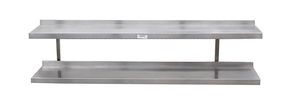 STAINLESS STEEL DOUBLE PLATE RACK