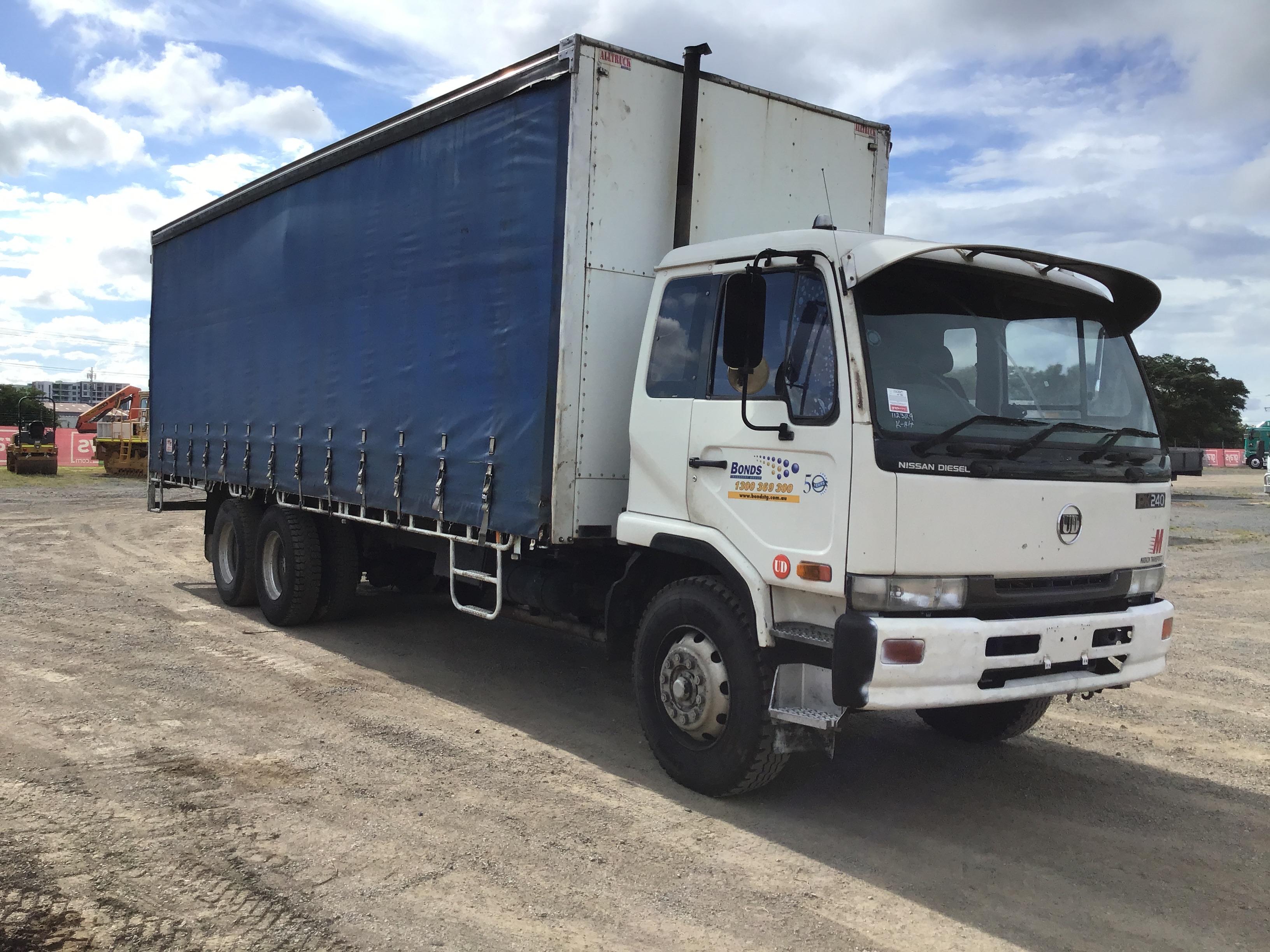 1996 UD Nissan Diesel PK 310 6 x 2 Curtainsider Rigid Truck