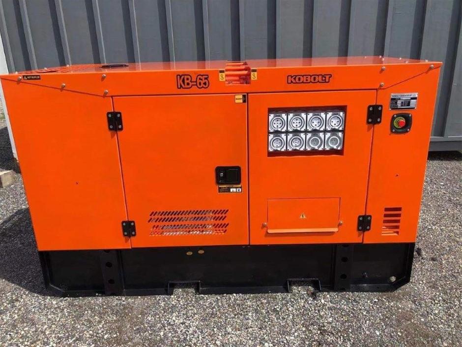 Unused 2021 KOBOLT KB65 Silenced 60 kVA Generator