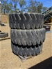 Qty 3 x 23.5-25 Loader Tyres