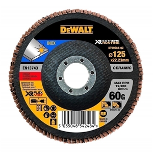 10 x DeWALT Ceramic Flap Discs 125 x 60