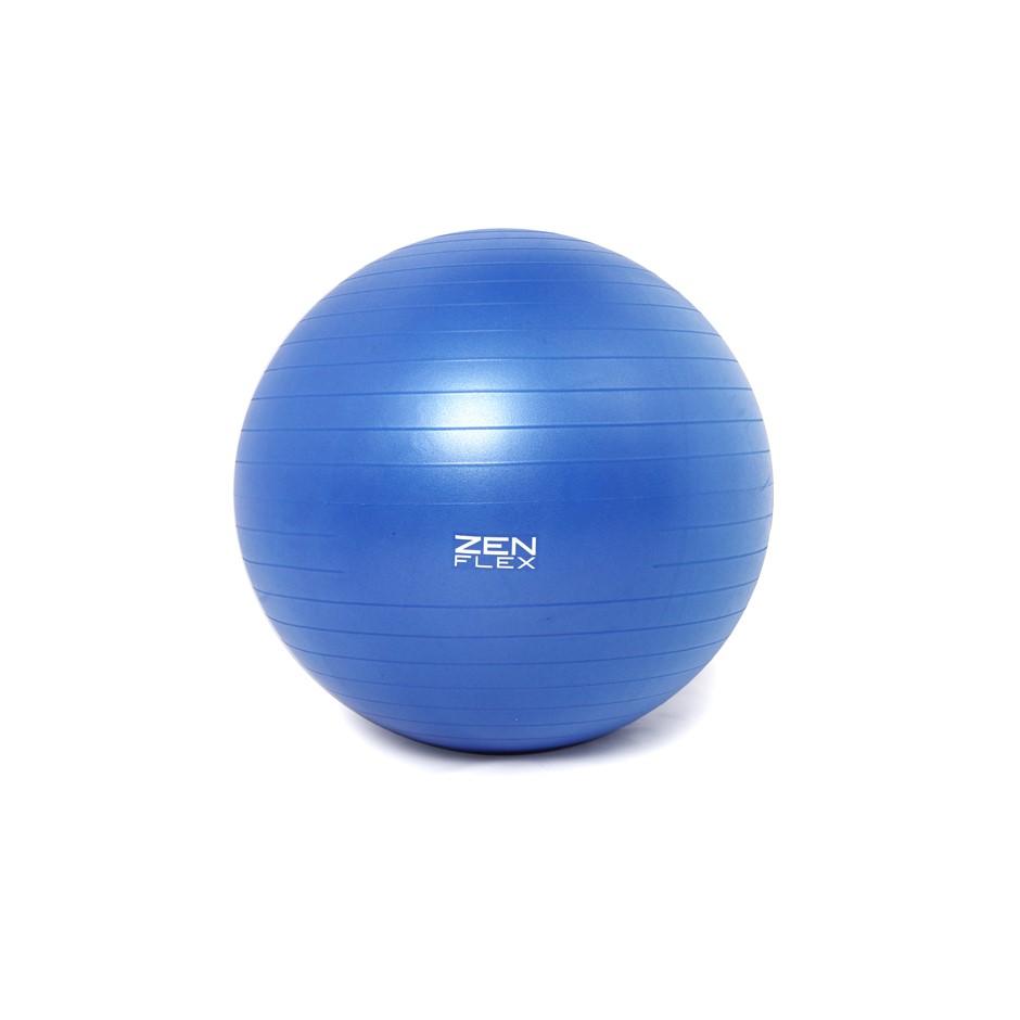 Zen Flex Fitness PVC Yoga Exercise Ball - Blue - Large