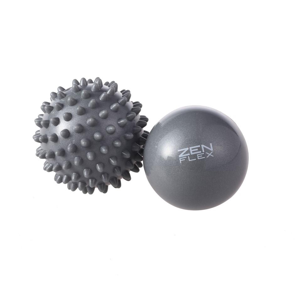 Zen Flex Fitness Trigger Point Massage Ball Set - Grey - 6.5cm