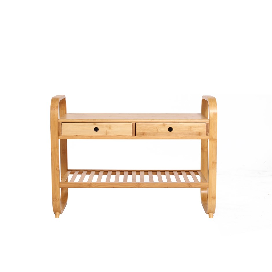 Sherwood Home Seated Shoe Storage Rack and Organiser with Bench 105x34x55cm