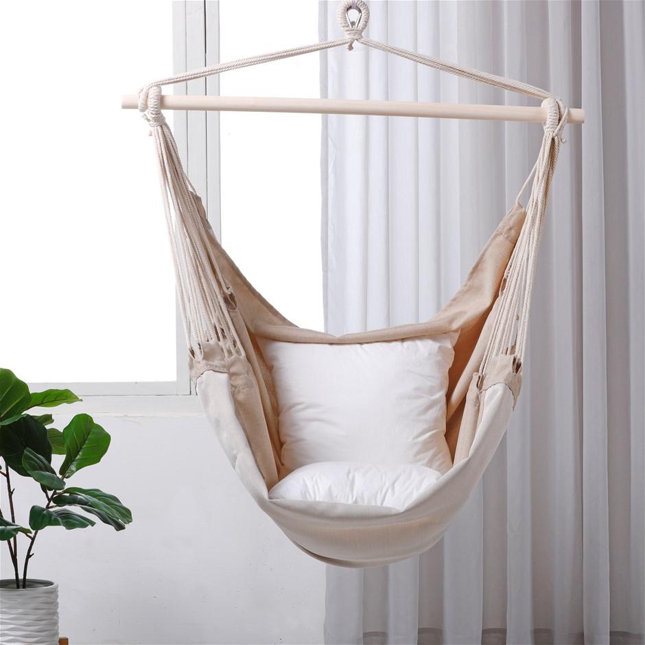 Sherwood Home Indoor and Outdoor Hammock Chair Swing - Medium 100x150cm