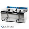 Unused Double Tank 17L Deep Fryer with Taps - EF-172V
