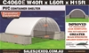 2021 Unused Heavy Duty 40t x 60ft Container Shelter with End Wall