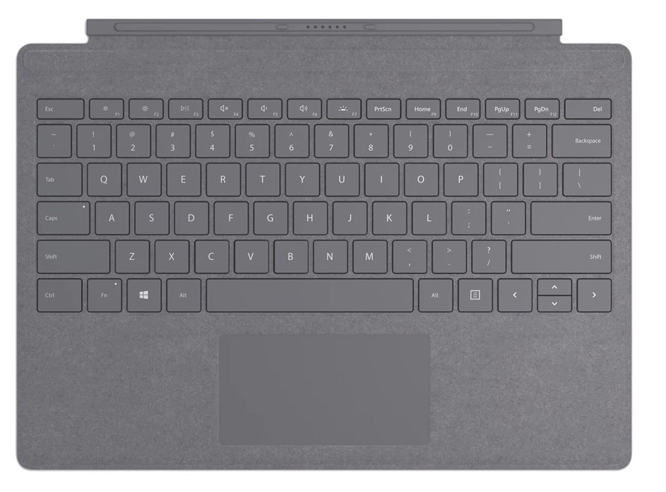 Microsoft Surface Pro 7 Signature Type Cover - Light Charcoal