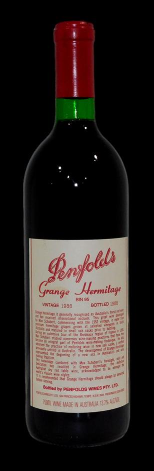 Penfolds Bin 95 Grange 1986 (1x 750mL), SA
