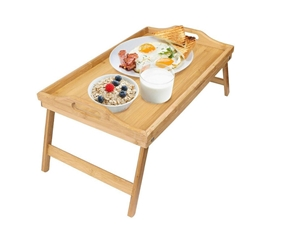 Bamboo Folding Lap Serving Tray For Desk