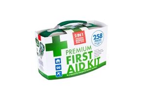 258pcs Premium First Aid Kit Medical Tre