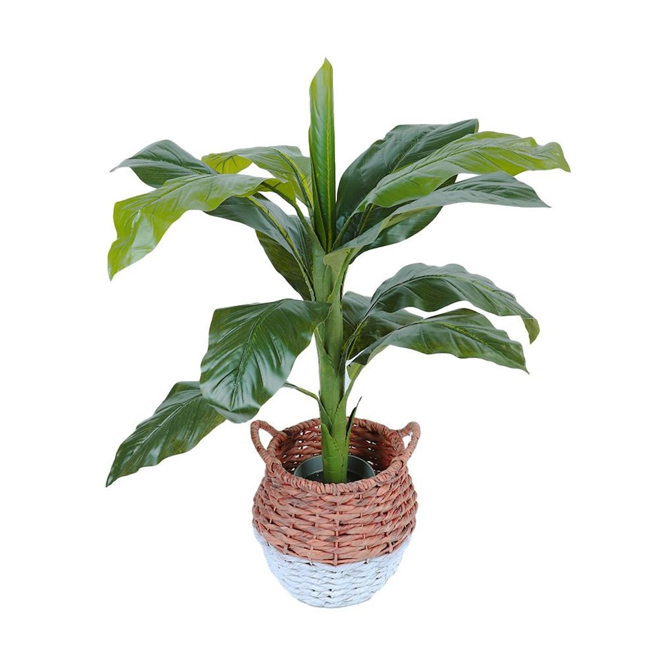 90cm Faux Artificial Pot Dieffenbachia Plant Tropical Life-Like Tree Décor