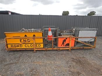 Stillage of Road Work Signs