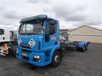 2014 Iveco 225E28 Cab Chassis Truck