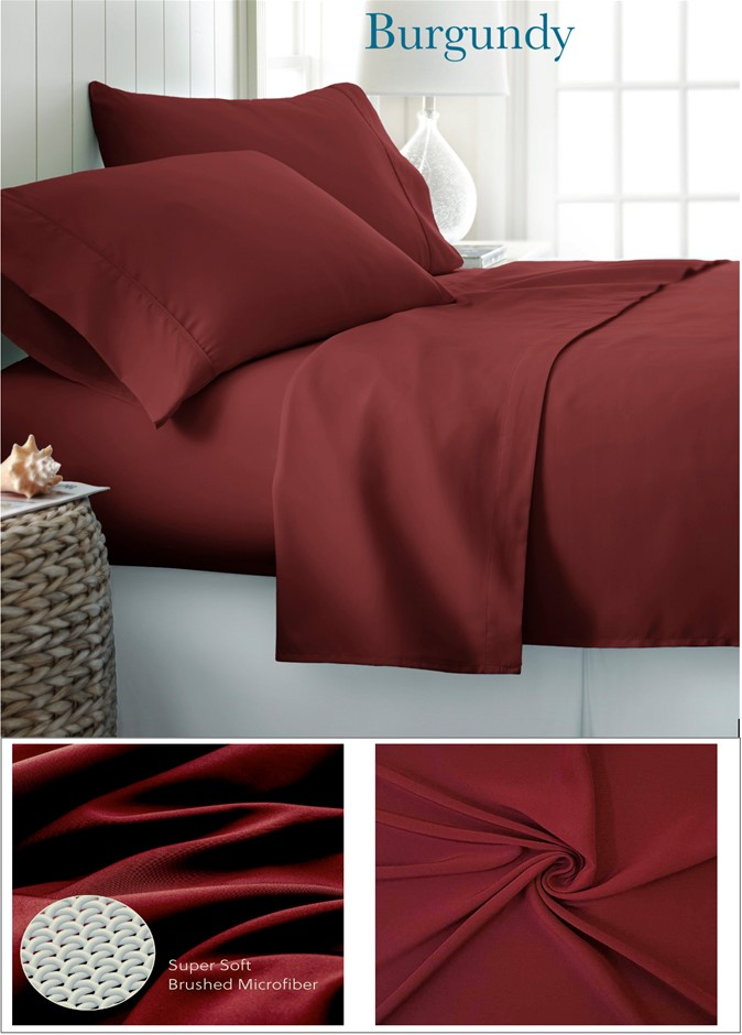 King Bed 1800TC Super Soft Microfiber Flat, Fitted sheets & 2 Pillowcases