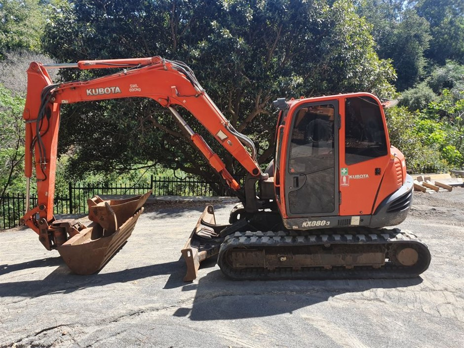 2011 Kubota KX80 Hydraulic Excavator