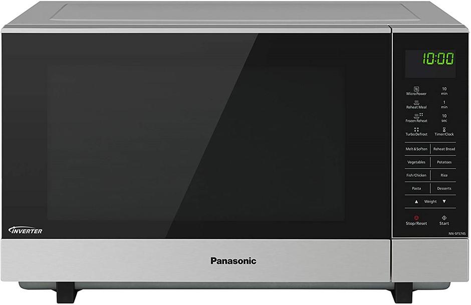 PANASONIC Microwave Oven, 27L, Model NN-SF574SQPQ, Stainless Steel, N.B Ite