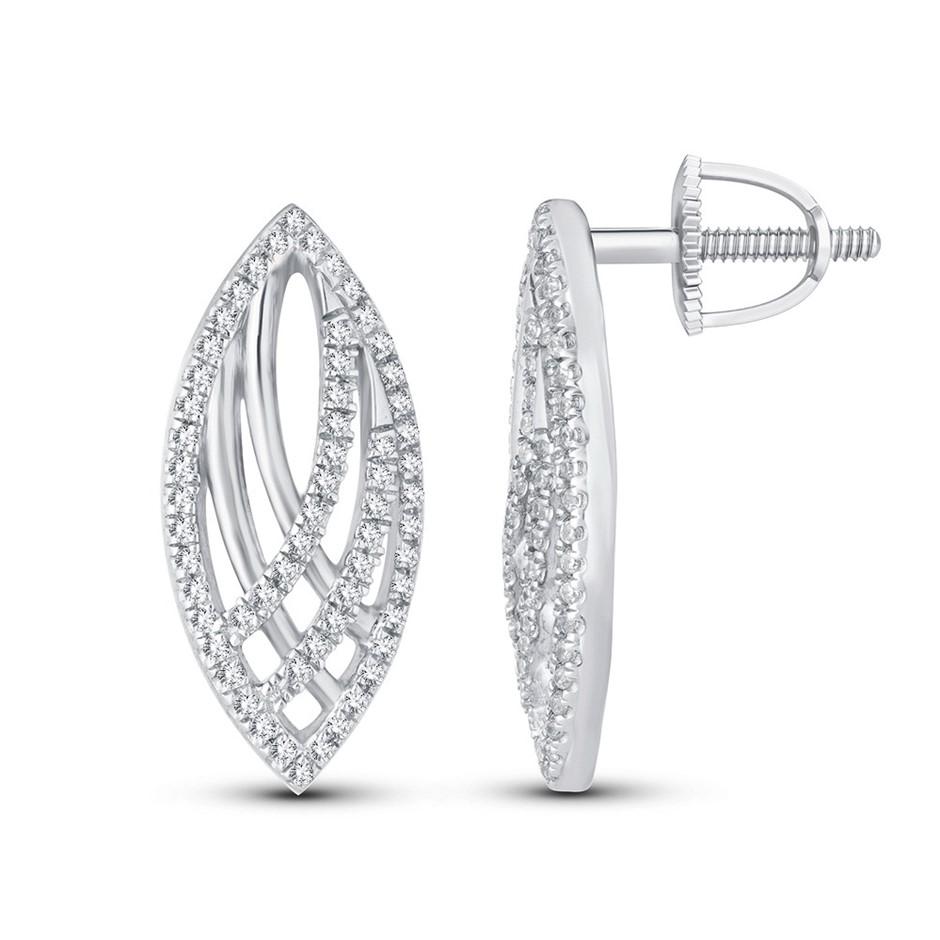 9ct White Gold, 0.23ct Diamond Earring