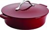 ANOLON, Vesta Cast Iron Cookware 5-Quart Round Covered Braiser, Paprika Red