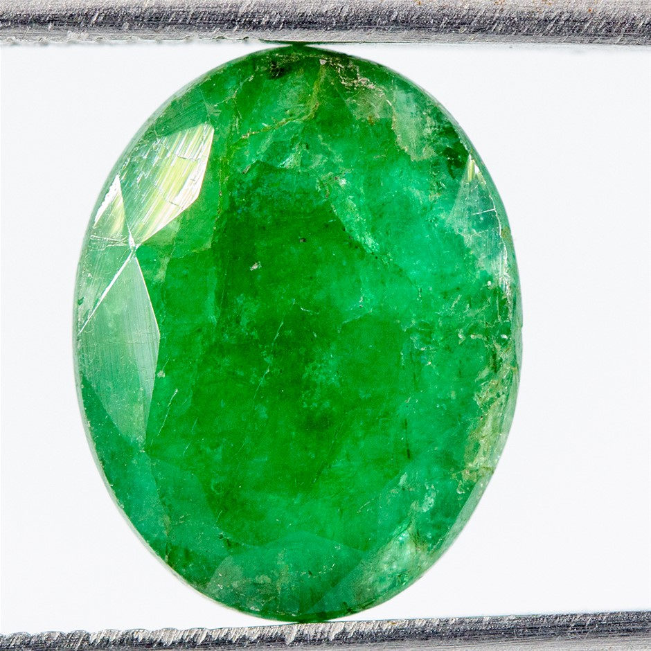 One Loose Emerald, 4.30ct in Total