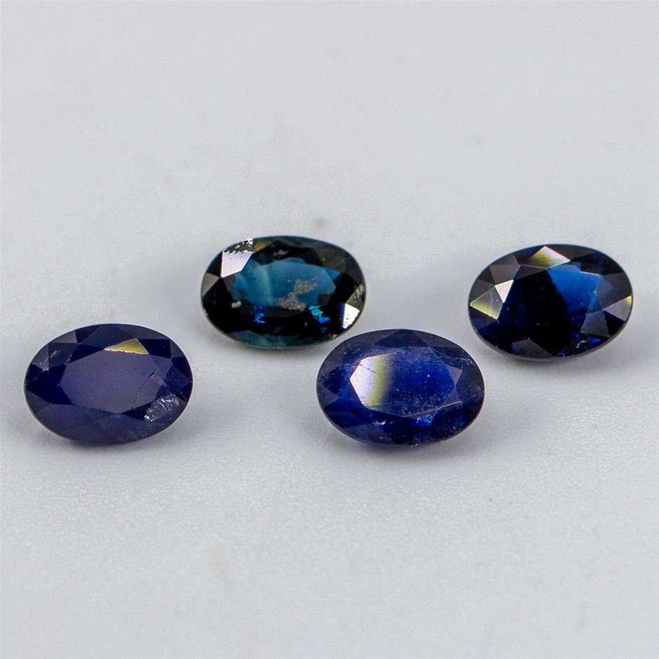 Four Loose Blue Sapphire, 4.14ct in Total