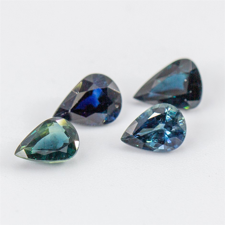 Four Loose Blue Sapphire, 4.20ct in Total
