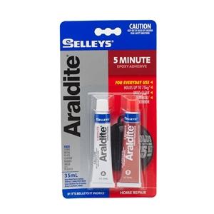 3 x SELLEYS 5 MINUTE Araldite Adhesive 3