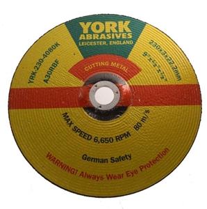 5 x YORK Metal Cutting Discs, 230 x 3 x