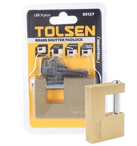 TOLSEN 70mm Brass Shutter Padlocks 20mm