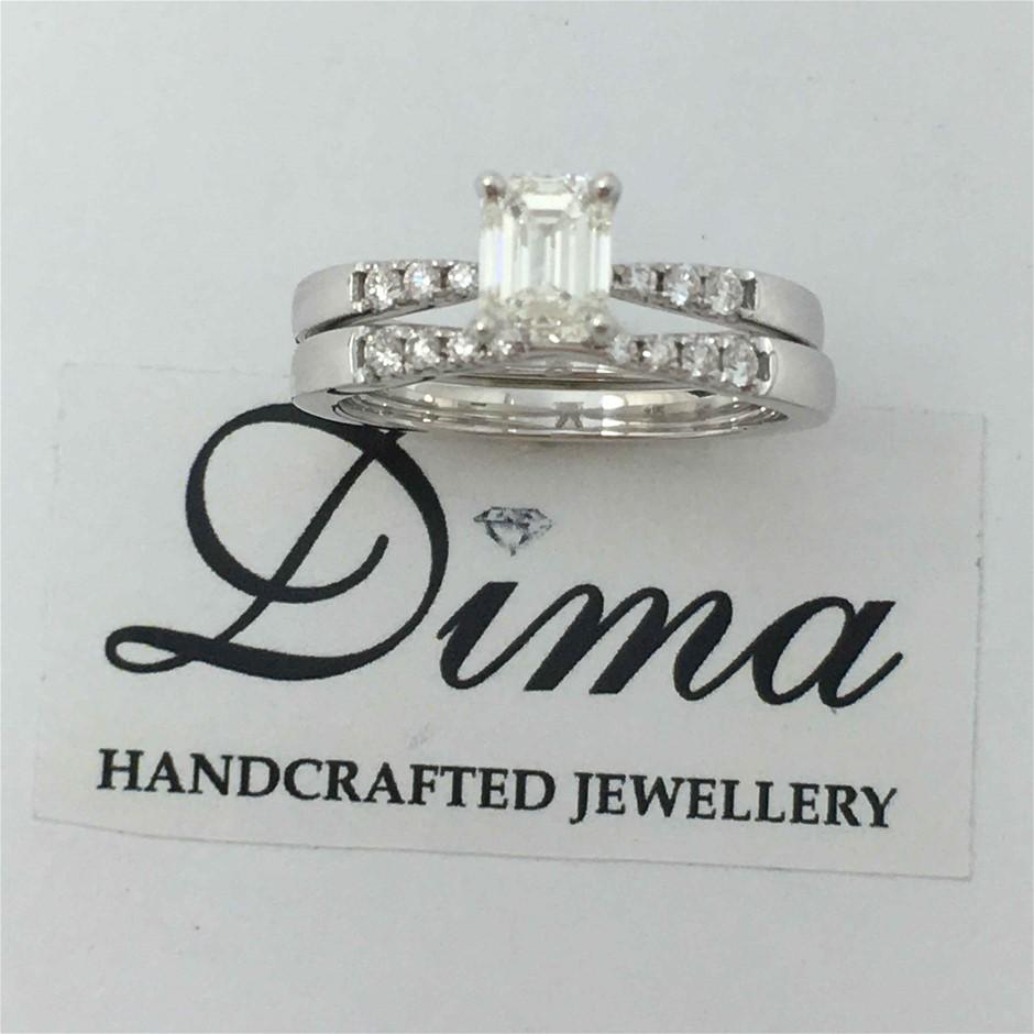 18ct White Gold, 1.13ct GIA Diamond Engagement Ring