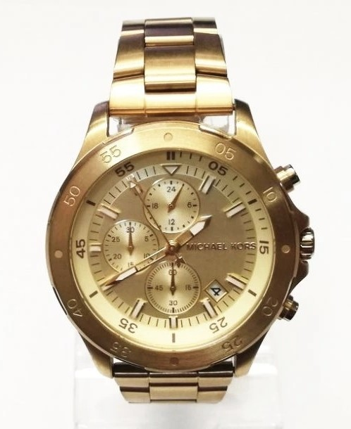 Mens new Michael Kors Couture NY very masculine chronograph watch.