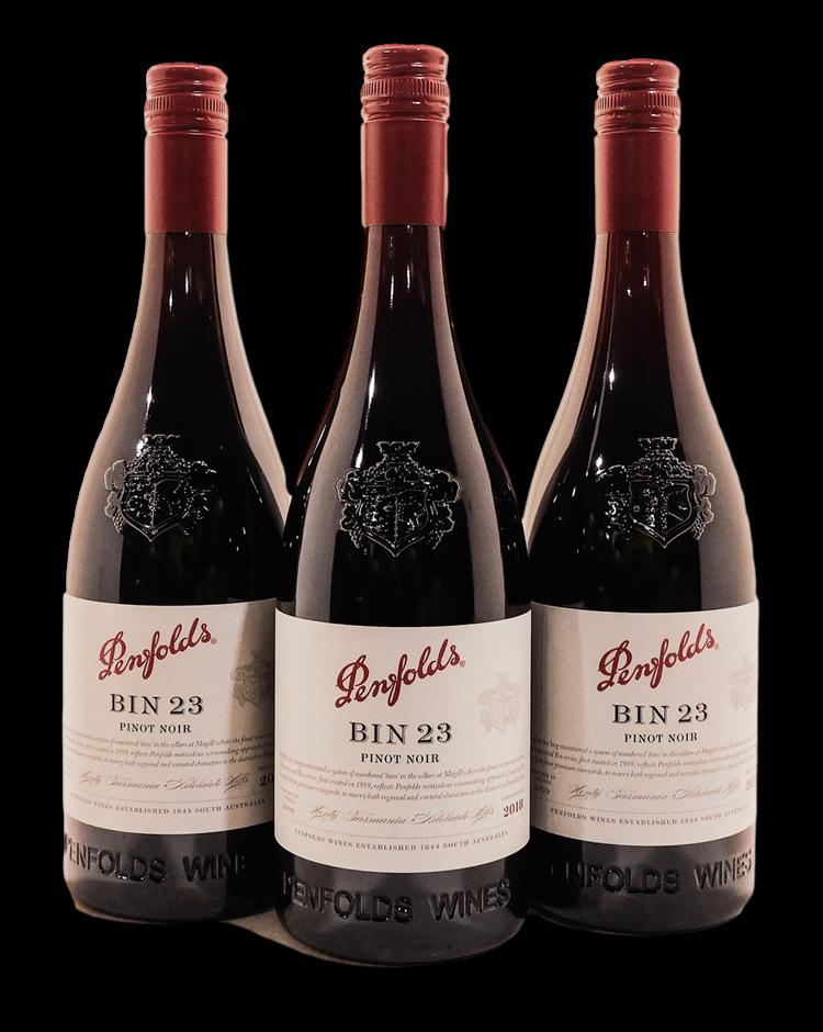 Penfolds Bin 23 Pinot Noir 2018 (3x 750mL), SA