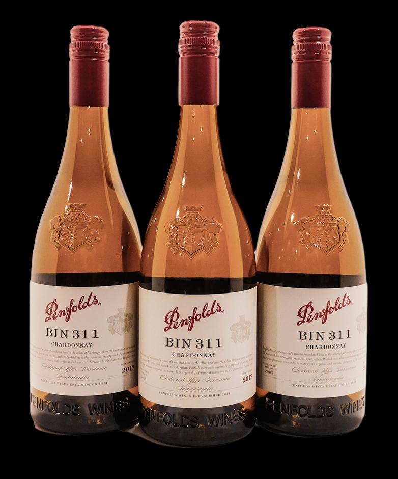 Penfolds Bin 311 Chardonnay 2018 (3x 750mL), SA