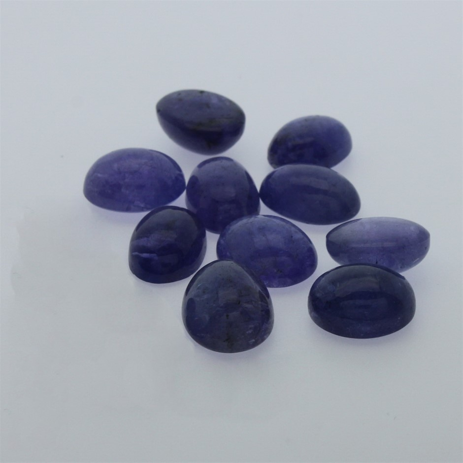 Ten Loose Tanzanite, 64.20ct in Total