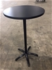 Tall Black Round Table