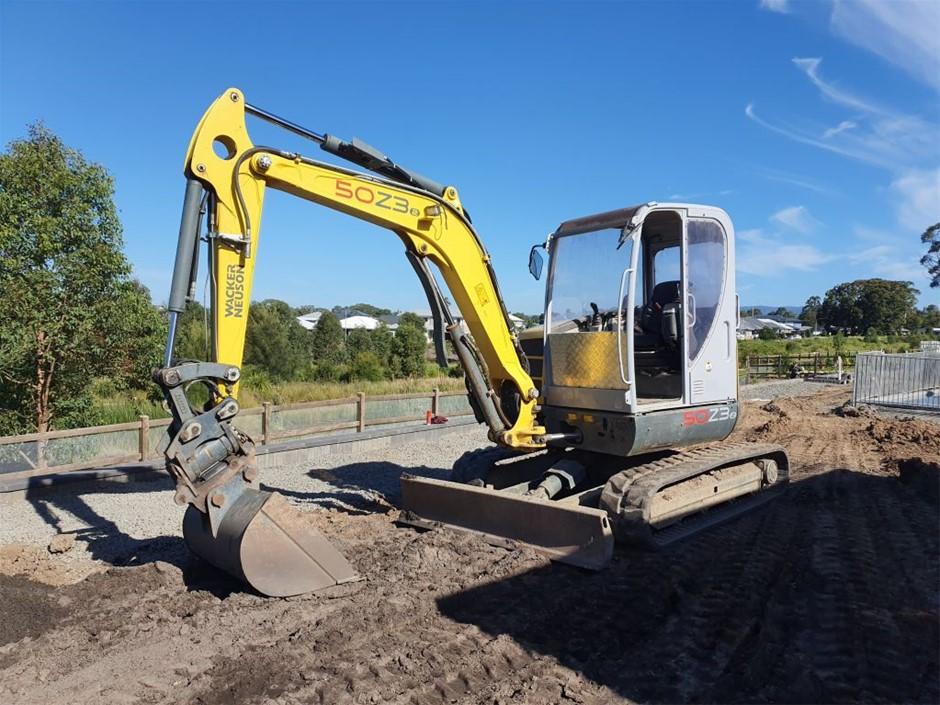 2017 Wacker Neuson 50Z3 5T Excavator