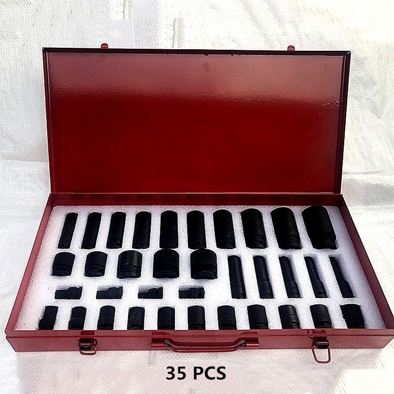 35 PCS 1/2 air impact socket