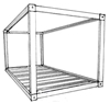 Qty 3 x Frame Kits for 20ft Shipping Containers