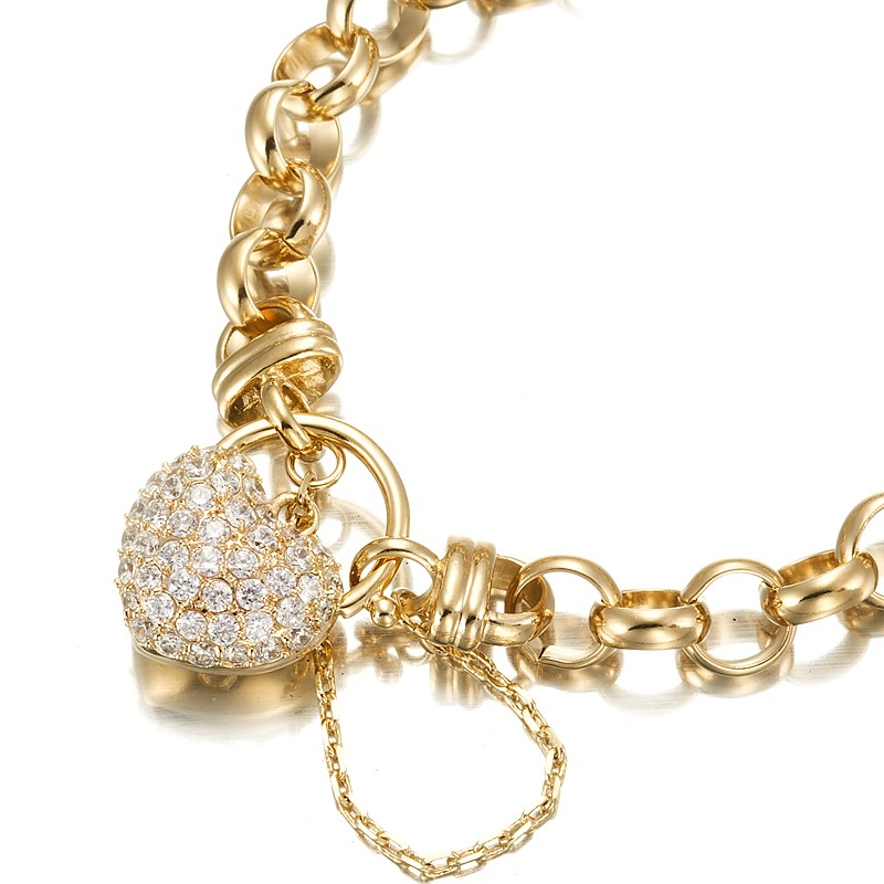 "18ct Yellow Gold Layered 7.5"" Belcher Bracelet"